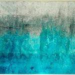 abstrakte Kunst türkis, scraped acrylics, ausstellung in weilheim, moderne und abstrakte kunst, fine art artist, kunstwerk in türkis