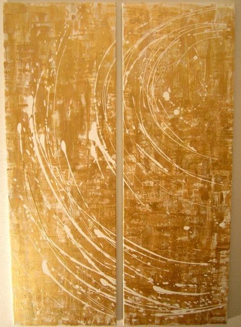 abstrakte Kunst gold, goldene bilder für ihre wohnung, kunst auf leinwand im internet, abstract artist in deutschland