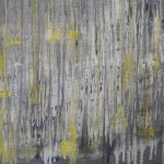 abstrakte Kunst gelb, artwork in grey and yellow