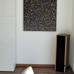 astridstoeppel.com, modern, modern living, art for collector, gallery, german artist, exhibition, colorful artworks, Acrylbilder, schwarz, grau, bunt, dots, black, series colorful acrylics