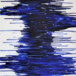 abstrakte Kunst blau, modern, fluid painting, blue, artwork in blue, german abstract artist, exhibition, astridstoeppel.com, dark blue, river, Saatchi Art