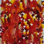 abstrakte Kunst rot, small artwork, fluid painting, artwork in red, heat, fire, colorful, modern, unique art