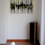 astridstoeppel.com, abstract art, modern art in black and yellow, buy art online, art people, arteide, artworks on canvas