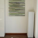 place of relaxation, moderne Kunst, abstrakte Kunst in Deutschland, Acrylbilder in grün, braun, Streifen, modernes Wohnen, schöner Wohnen, Wohndesign, series colorful acrylics