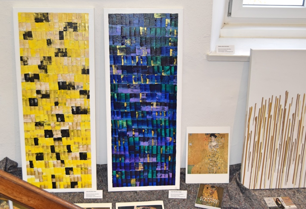 exhibition, colors like klimt, XMAS, 2016, Geermany, german abstract art, german abstract artist, modern, golden, Gustav Klimt, artwork, golden acrylic, Astrid Stöppel, astridstoeppel.com, art for collectors, unique artworks, modern living, art and design, artnet, Saatchi Art artist, abstrakte Kunst, moderne Kunst in Deutschland, zeitgenössische Kunst, internationale Ausstellungen, Art Basel, Art Miami, New York, artfair, London, Rome, Milan, Milano