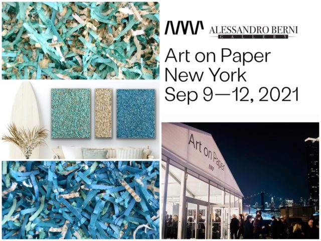 New show in New York 2021: Art on Paper is a famous artfair located in New York. Discover artworks by woman artist Astrid Stoeppel series Literary Paperwork presented by Alessandro Berni Gallery soon in the USA